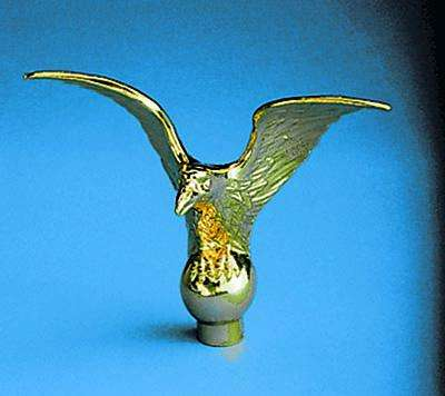 Metal Flying Eagle Indoor Flag Pole Ornament - 5 x 6-1/2