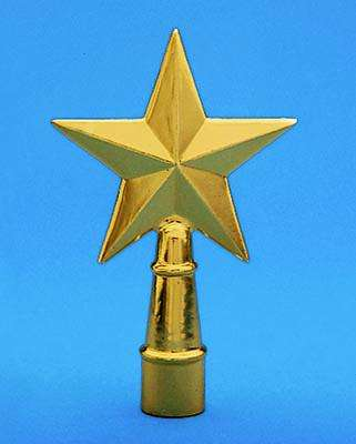 Golden Plated Texas Star Indoor Flag Pole Ornament