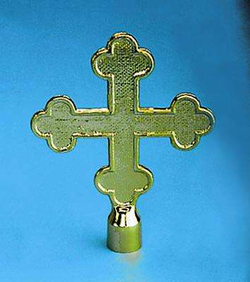 Golden Plated Botonee Cross Indoor Flag Pole Ornament