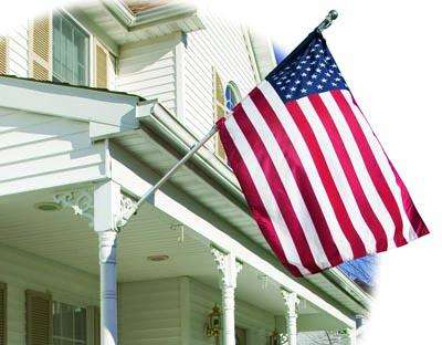 U.S. Embroidered Banner Flag - 2.25 x 4