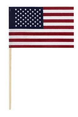 "4"" x 6"" American Stick Flag - Cotton No Fray U.S. Stick Flag"