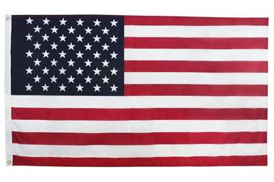 3X5 U.S. Poly Cotton Printed Indoor Decorative Display Flag