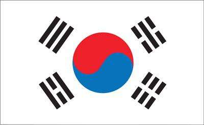 South Korea World Flag