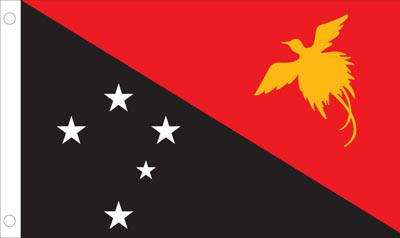 Papua New Guinea World Flag