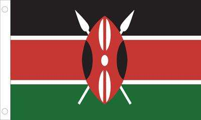 Kenya World Flag