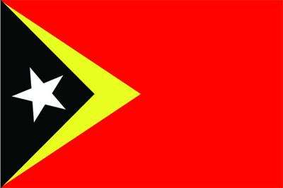 East Timor World Flag