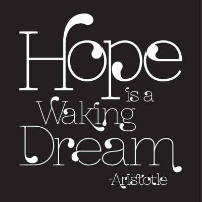 "Aristotle ""Hope"" Inspirational Magnet"