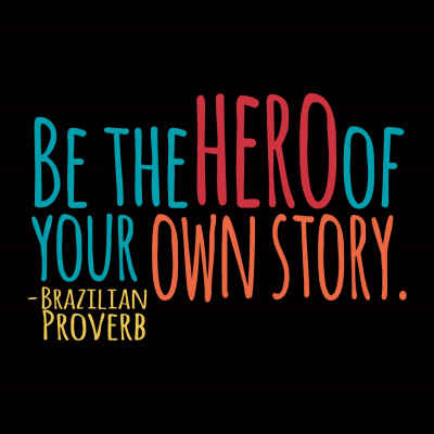 "Brazilian Proverb ""Hero"" Inspirational Magnet"