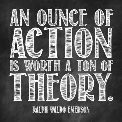 "Ralph Waldo Emerson ""Action"" Inspirational Magnet"