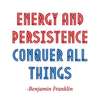 "Benjamin Franklin ""Energy"" Inspirational Magnet"