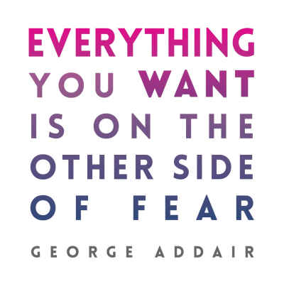"George Addair ""Everything You Want"" Inspirational Magnet"