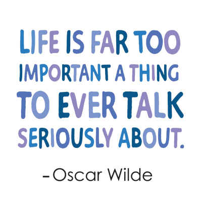 "Oscar Wilde ""Seriously"" Inspirational Magnet"