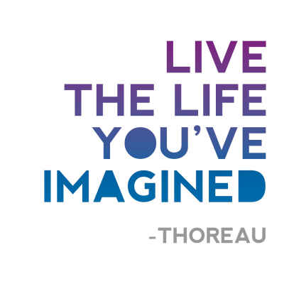 "Henry David Thoreau ""Imagined"" Inspirational Magnet"