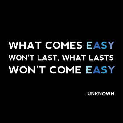 """What Comes Easy"" Inspirational Magnet"