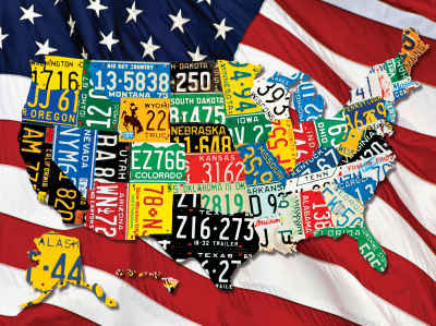 State Plates 400 Piece Jigsaw Puzzle