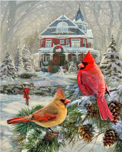 Cardinal Holiday Retreat 1000 Piece Jigsaw Puzzle