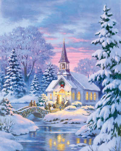 Village Chapel 1000 Piece Jigsaw Puzzle