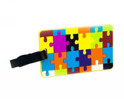 Colorful Jigsaw Puzzle Pattern Luggage Tag