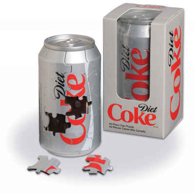 Diet Coke 3-D Can Puzzle 40 Piece 3D Puzzle