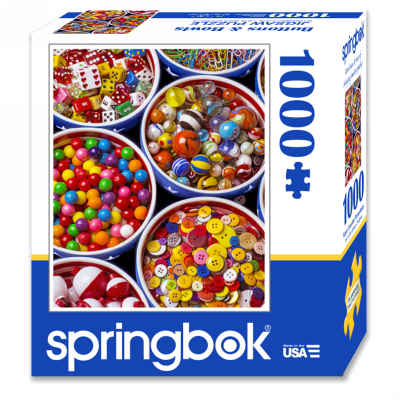 Buttons and Bowls 1000 Piece Jigsaw Puzzle