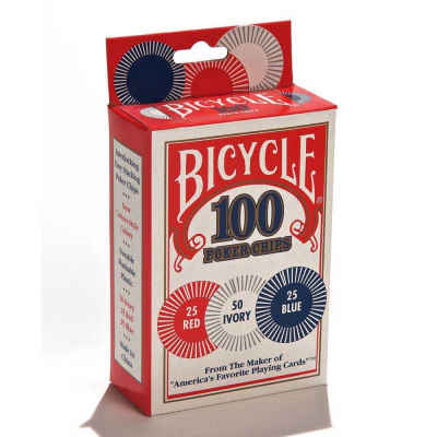 Bicycle 2 Gram Plastic Poker Chips Playing Cards Accessory