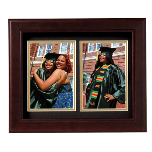 Decorative 4-Inch by 6-Inch Double Picture Frame