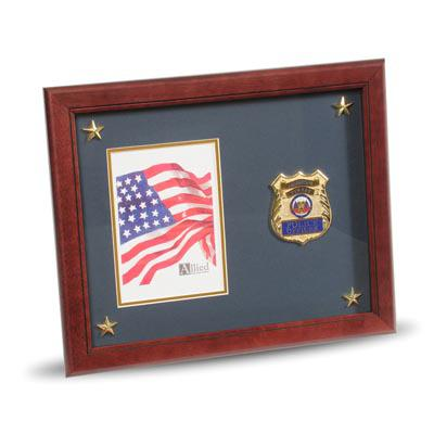 Police Department Medallion 5-Inch by 7-Inch Picture Frame with Stars