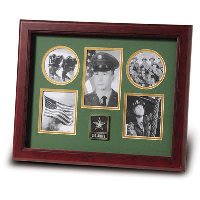 Go Army Medallion 5 Picture Collage Frame