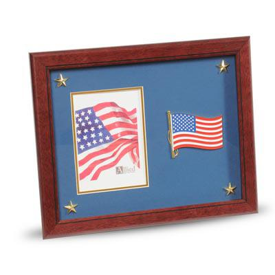American Flag Medallion 5-Inch by 7-Inch Picture Frame with Stars
