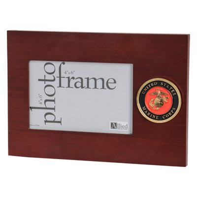 U.S. Marine Corps Medallion 4-Inch by 6-Inch Desktop Picture Frame