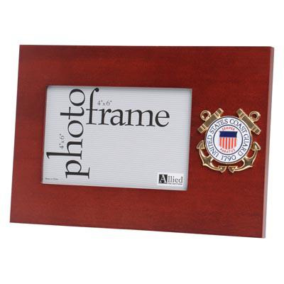 U.S. Coast Guard Medallion 4-Inch by 6-Inch Desktop Picture Frame