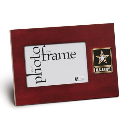 Go Army Medallion 4-Inch by 6-Inch Desktop Picture Frame
