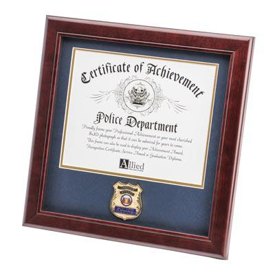 Police Department Medallion 8-Inch by 10-Inch Certificate Frame