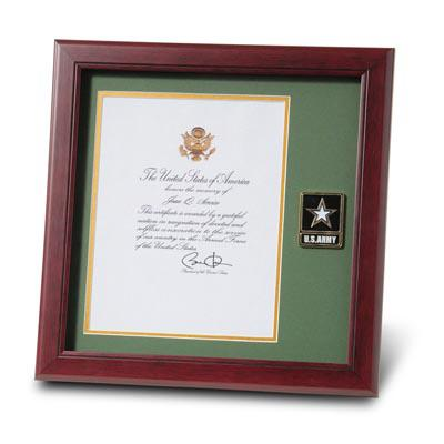 Go Army Medallion 8-Inch by 10-Inch Presidential Memorial Certificate Frame