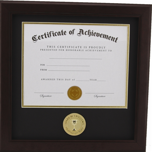 Award of Excellence 8-Inch by 10-Inch Certificate Frame - Mahogany