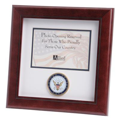 U.S. Navy Medallion 4-Inch by 6-Inch Landscape Picture Frame