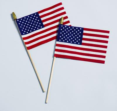 American Handheld Stick Flag - No Fray US Flag 12x18