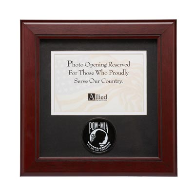 POW MIA Medallion 4-Inch by 6-Inch Landscape Picture Frame