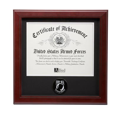 POW MIA Medallion 8-Inch by 10-Inch Certificate Frame