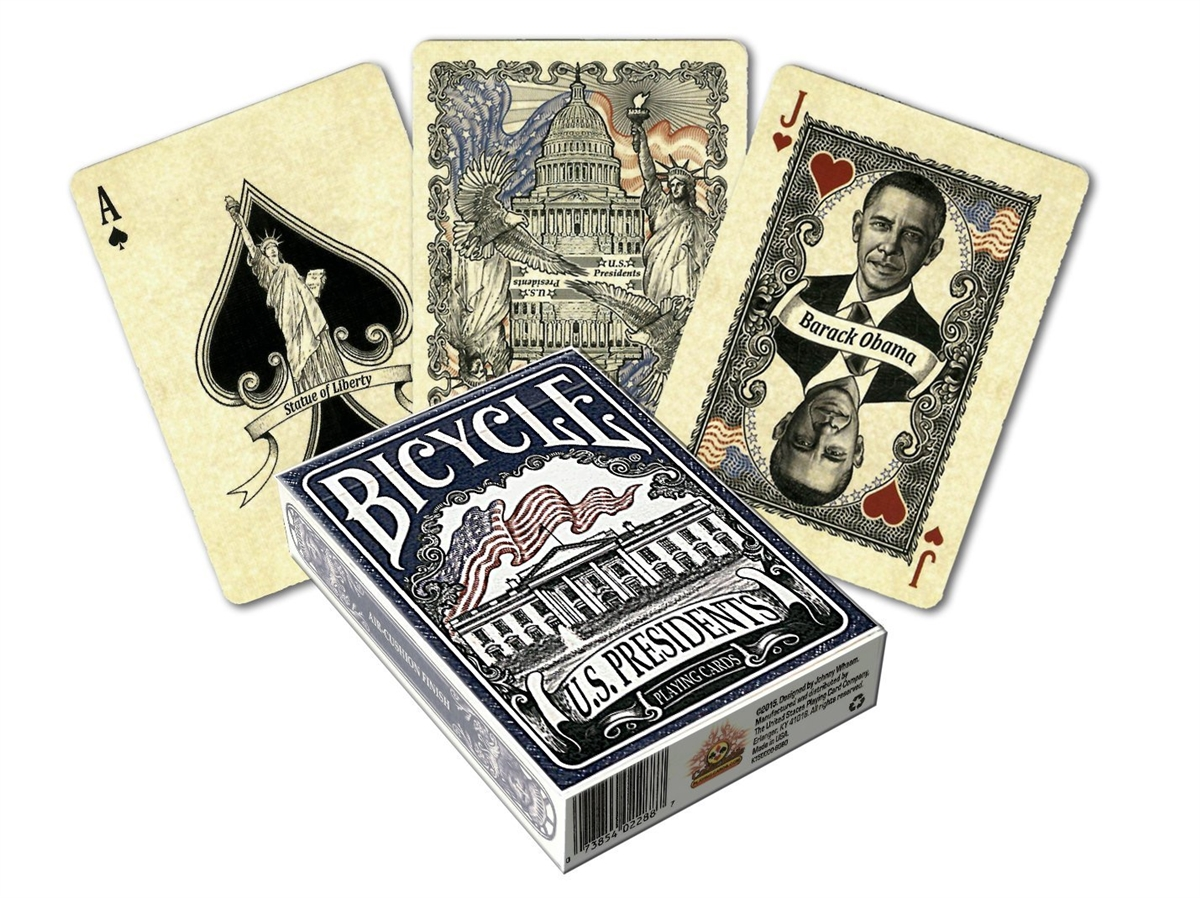 Bicycle U S  Presidents Standard Index Playing Cards
