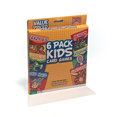 Bicycle Kids Standard Index Playing Cards 6 Set Variety Pack