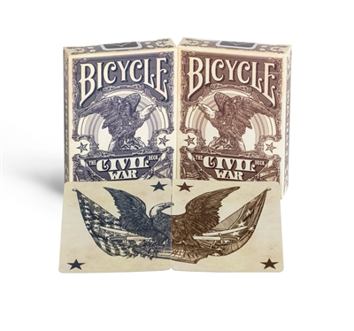 Bicycle Civil War Standard Index Playing Cards