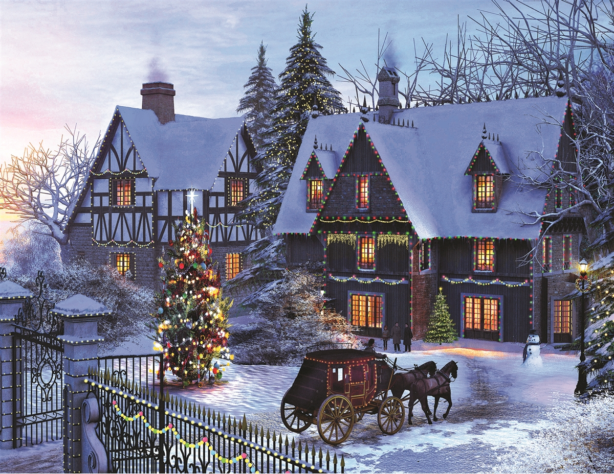 A Home For Christmas.Home For Christmas 350 Piece Jigsaw Puzzle