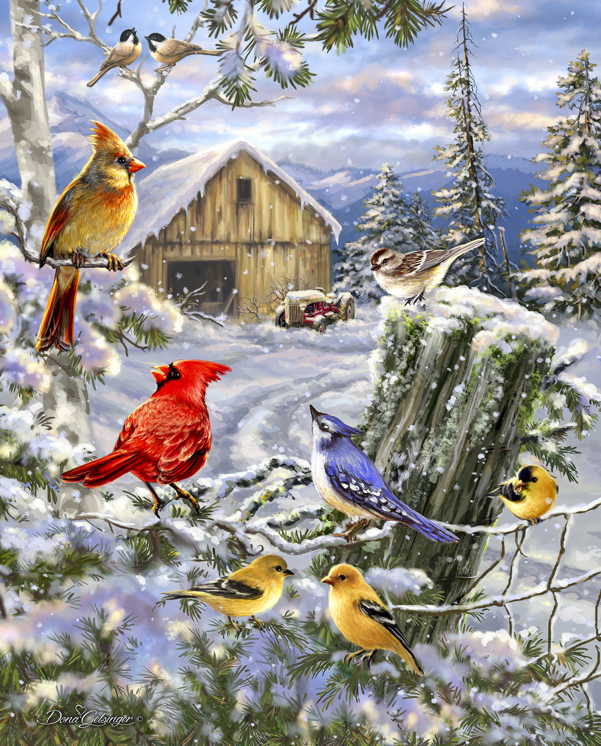 Frosty Morning Song 1000 Piece Puzzle