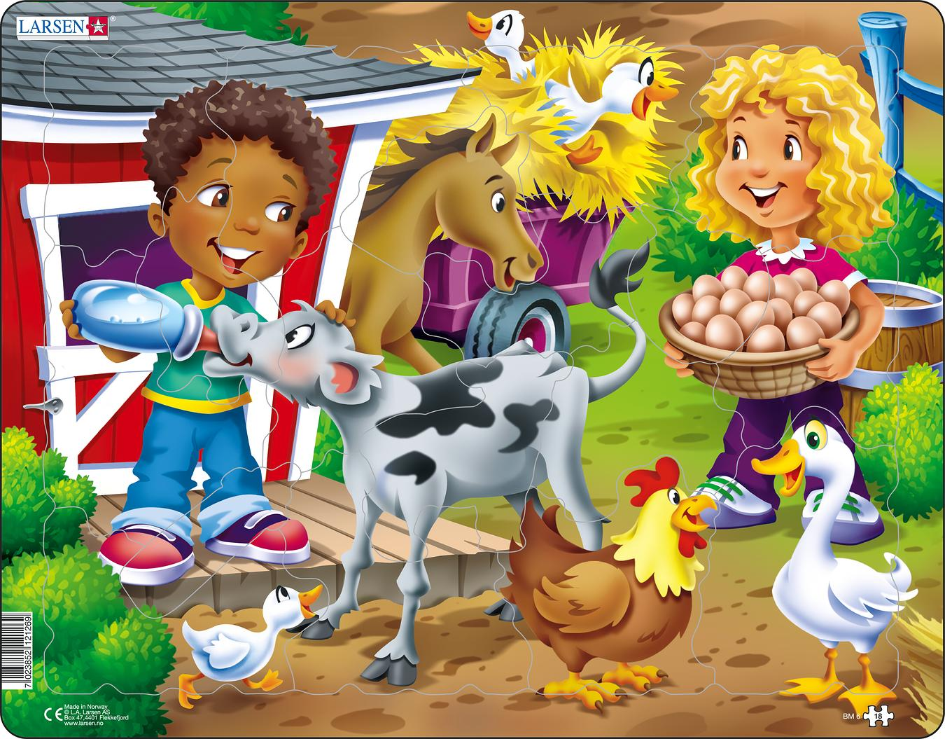 Farm Kid with Calf 15 Piece Children's Jigsaw Puzzle