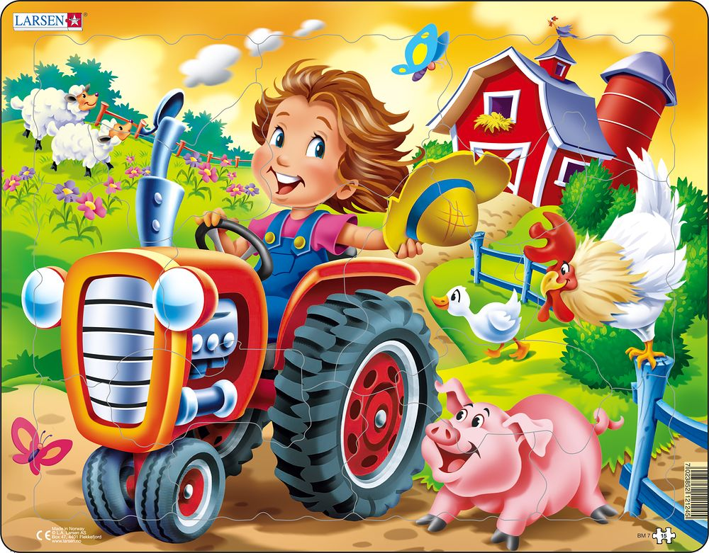 Farm Kid with Tractor 15 Piece Children's Jigsaw Puzzle