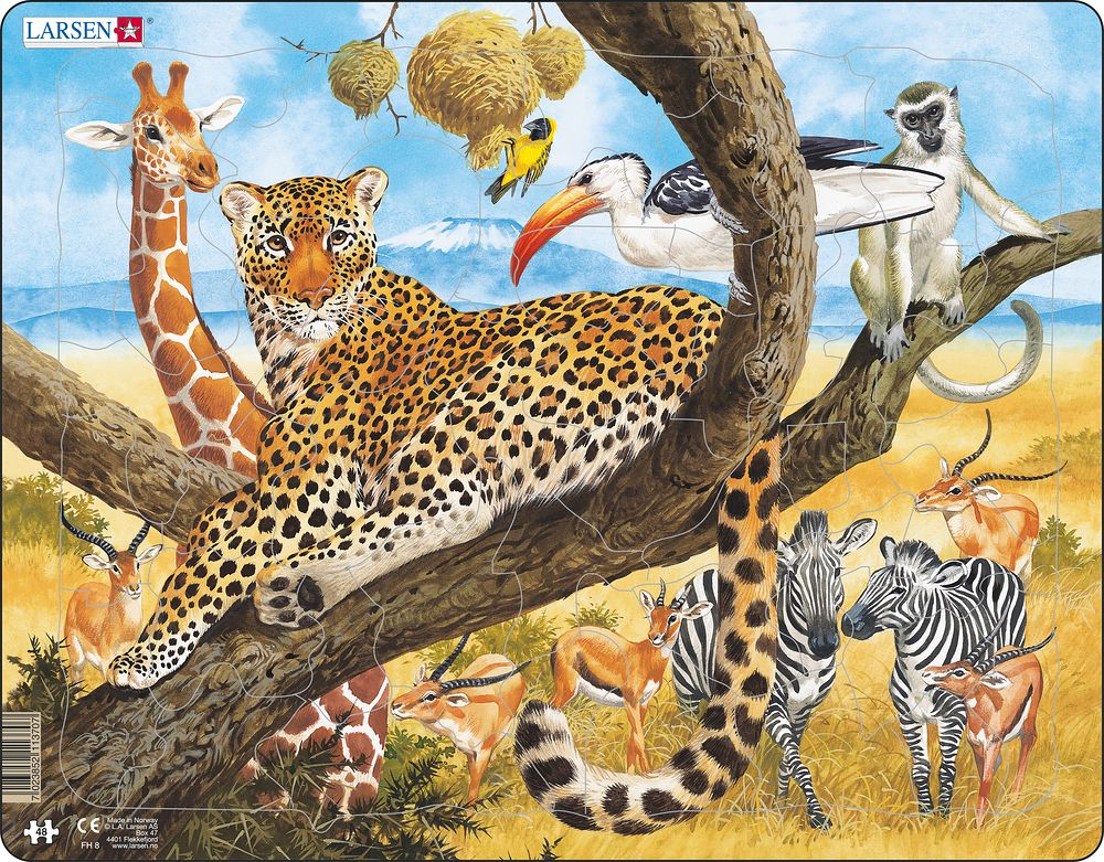 Leopard 48 Piece Children's Jigsaw Puzzle