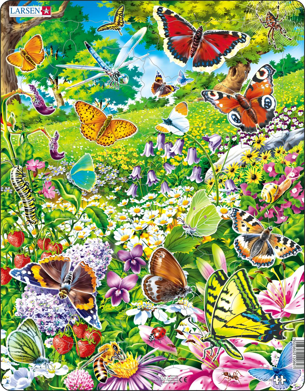 Butterflies 42 Piece Children's Jigsaw Puzzle