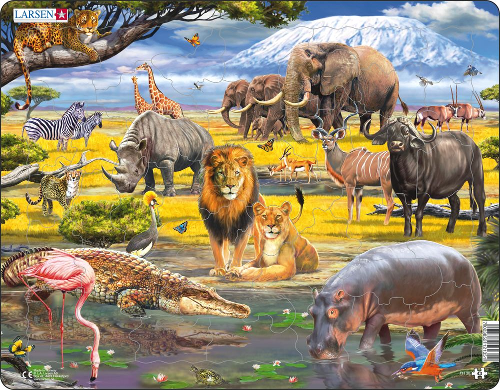 Savannah Children's 43 Piece Jigsaw Puzzle