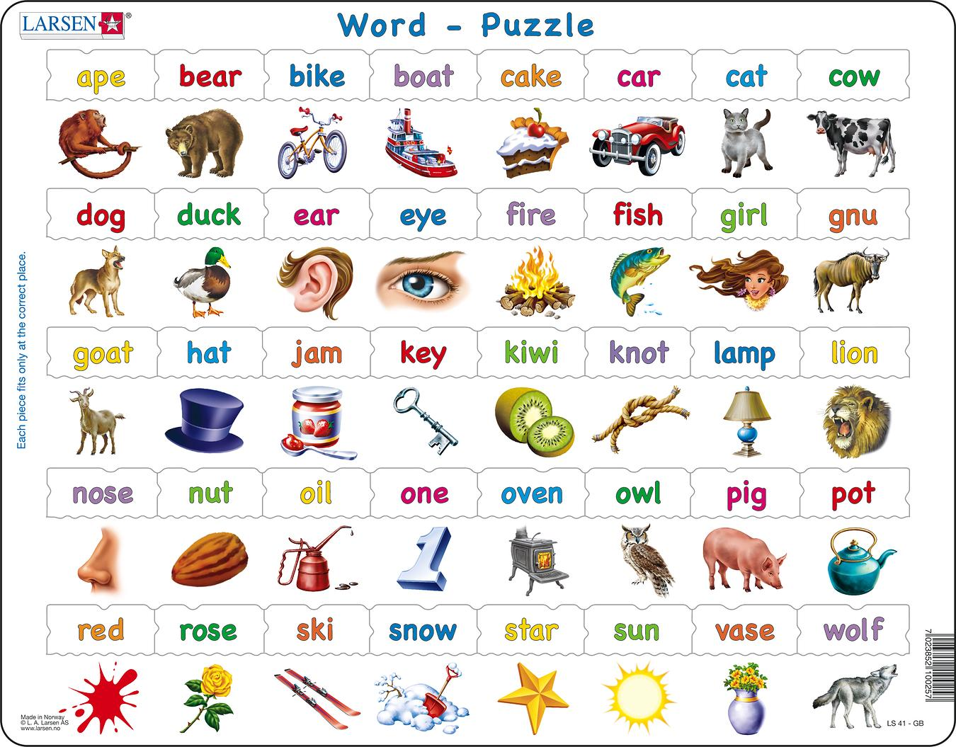 Word 40 Piece Children's Educational Puzzle